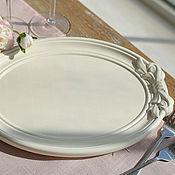 Материалы для творчества handmade. Livemaster - original item The billet tray oval with bow Elegant. Handmade.