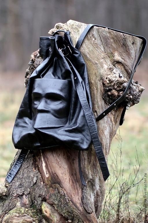 """Рюкзаки ручной работы. Ярмарка Мастеров - ручная работа. Купить Рюкзак из натуральной кожи """"Баута"""". Handmade. Черный, натуральная кожа"""