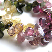 Материалы для творчества handmade. Livemaster - original item Tourmaline beads petals briolette. Handmade.