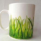 """Посуда ручной работы. Ярмарка Мастеров - ручная работа Кружка """"Трава"""". Handmade."""
