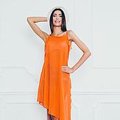 Одежда ручной работы. Ярмарка Мастеров - ручная работа Сочная оранжевая туника. Handmade.