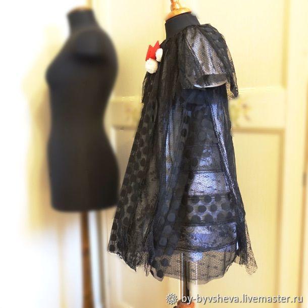 Черно-белое платье для девочки. Минни маус