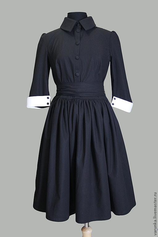 """Платья ручной работы. Ярмарка Мастеров - ручная работа. Купить Платье """"Домино"""". Handmade. Чёрно-белый, повседневное платье, хлопок"""