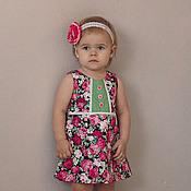 Работы для детей, ручной работы. Ярмарка Мастеров - ручная работа Платье для девочки Розарий. Handmade.