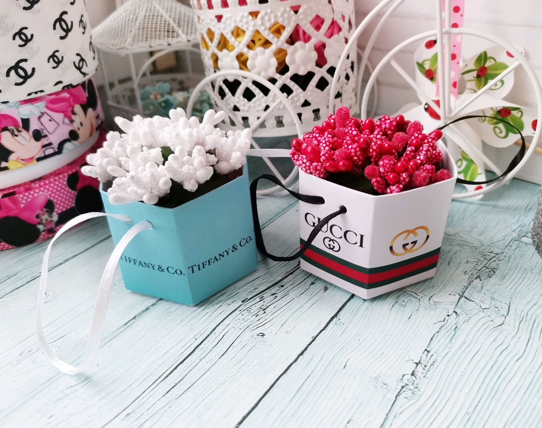 Мини-Коробочки для цветов с брендами и Минни-Маус, коробочка для куклы, Кубики и книжки, Волгоград,  Фото №1