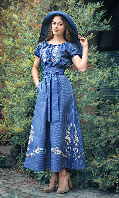 Модели платьев с вышивкой фото 7523
