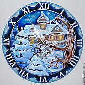 """Для дома и интерьера ручной работы. Ярмарка Мастеров - ручная работа Часы  """"Рождество"""". Handmade."""