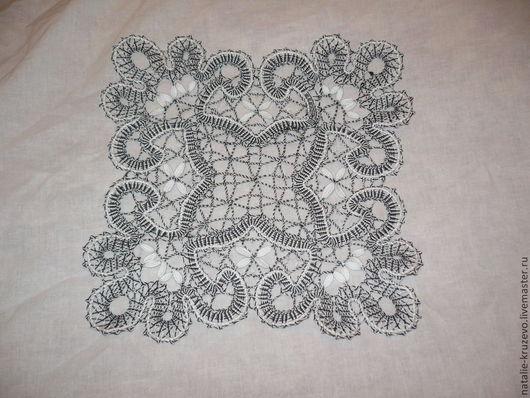 Текстиль, ковры ручной работы. Ярмарка Мастеров - ручная работа. Купить Салфетка квадратная. Handmade. Бежевый, коклюшки, лён