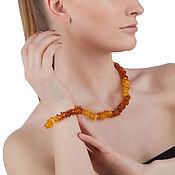 Украшения handmade. Livemaster - original item Beads amber bracelet, natural Baltic amber stones for women. Handmade.