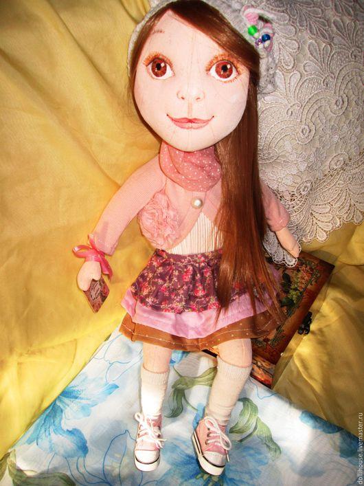 Куклы тыквоголовки ручной работы. Ярмарка Мастеров - ручная работа. Купить Полина. Handmade. Бежевый, тыквоголовка, трикотаж хлопок