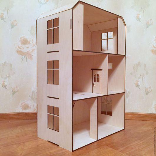 Кукольный дом ручной работы. Ярмарка Мастеров - ручная работа. Купить Кукольный домик. 3 этажа. Деревянный. Handmade. Домик
