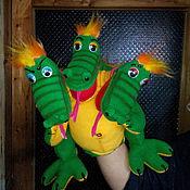 Куклы и игрушки handmade. Livemaster - original item The Serpent-Dragon.Doll glove.. Handmade.