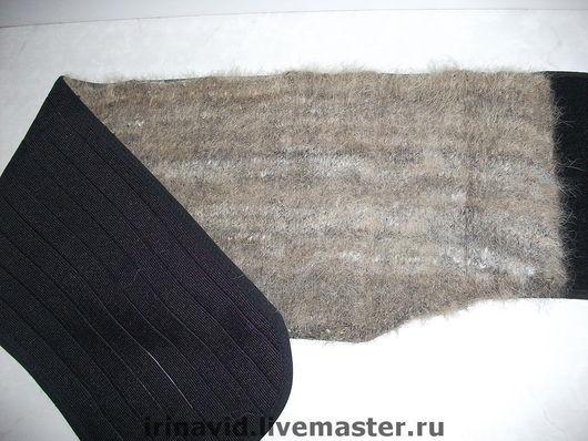 Пояс радикулитный  из собачьей шерсти вязаный, нашитый на эластичную основу,с косточками,застежка на липучках, размер 44-48