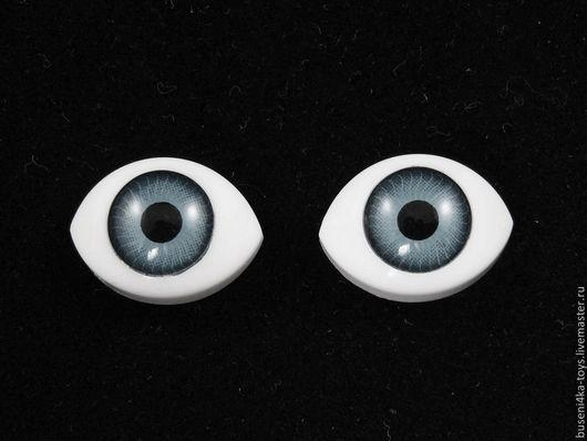 """Куклы и игрушки ручной работы. Ярмарка Мастеров - ручная работа. Купить 7х9мм Глаза кукольные (серые) 2шт. """"5623"""". Handmade."""