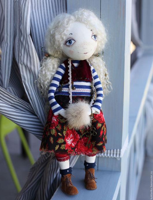 Куклы тыквоголовки ручной работы. Ярмарка Мастеров - ручная работа. Купить Маленькая путешественница. Handmade. Комбинированный, текстильная кукла