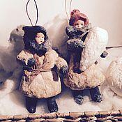 """Куклы и игрушки ручной работы. Ярмарка Мастеров - ручная работа Ватная елочная игрушка """"Мальчонка"""". Handmade."""