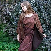 Одежда handmade. Livemaster - original item Felted set of dress and Cape Terra Incognita. Handmade.