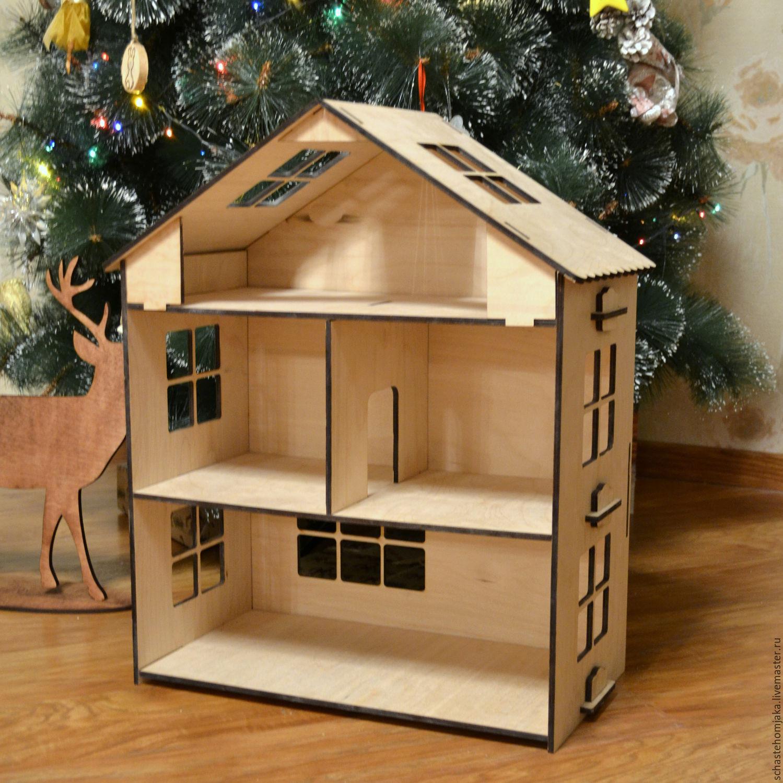 Деревянный домик для хомяка из фанеры