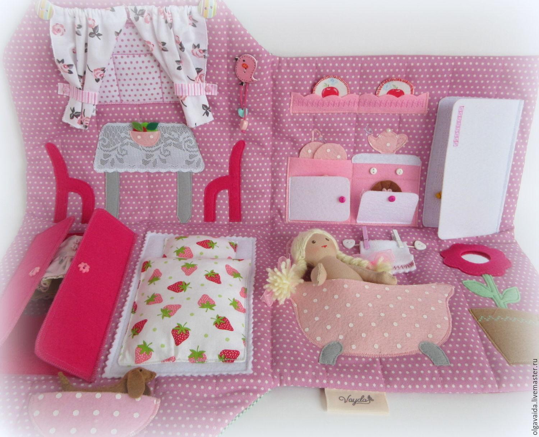 Кукольный домик из ткани своими руками фото