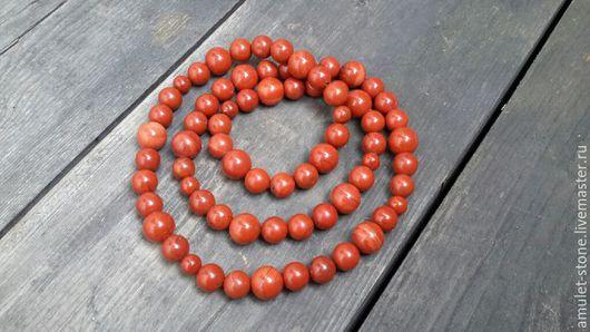 Бусы-браслет из Яшмы красной