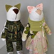 Куклы и игрушки ручной работы. Ярмарка Мастеров - ручная работа Пара котиков №2. Handmade.