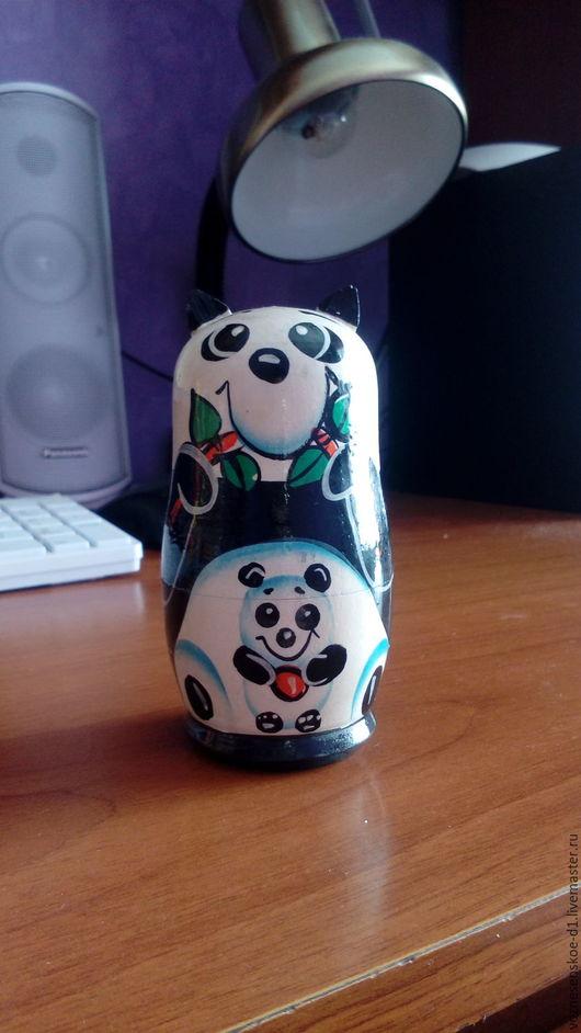 Миниатюрные модели ручной работы. Ярмарка Мастеров - ручная работа. Купить матрешка-панда. Handmade. Комбинированный, миниатюрные модели