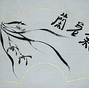Картины и панно ручной работы. Ярмарка Мастеров - ручная работа Чистая энергия подобна орхидее (китайская живопись и каллиграфия). Handmade.