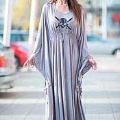 Одежда handmade. Livemaster - original item Beach long dress with print - KA0332TR. Handmade.