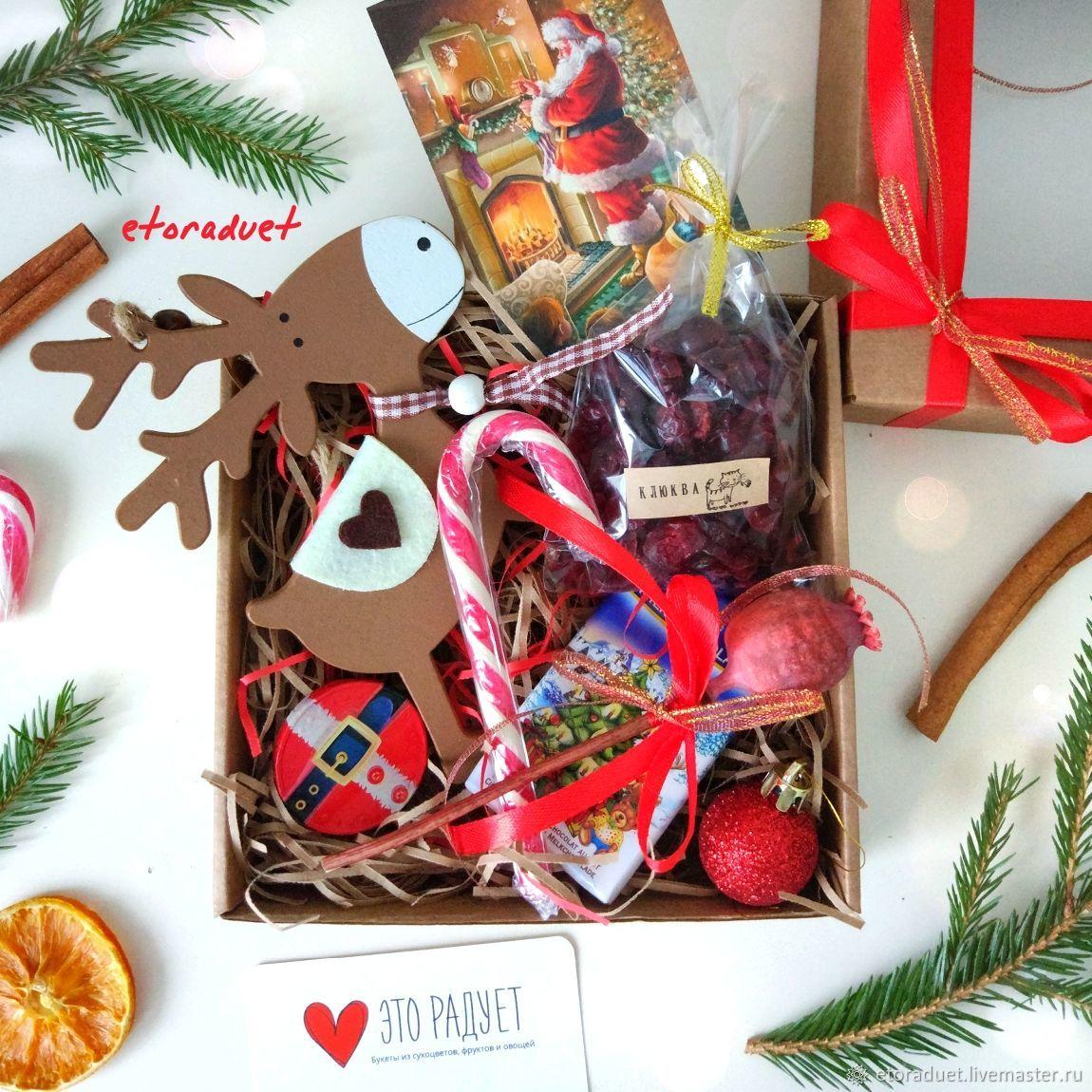 Новогодний набор с деревянным оленем в коробочке, Наборы, Санкт-Петербург,  Фото №1