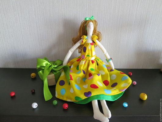 Куклы Тильды ручной работы. Ярмарка Мастеров - ручная работа. Купить Марьяна. Handmade. Желтый, куклы в подарок, подарок девушке