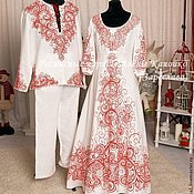 Свадебный салон ручной работы. Ярмарка Мастеров - ручная работа Венчальный наряд для пары. Handmade.