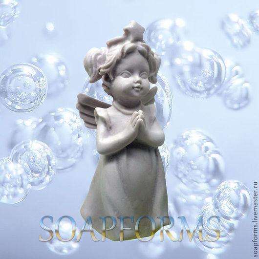 Форма силиконовая для мыла и свечей `Девочка ангел -2 ` 3D