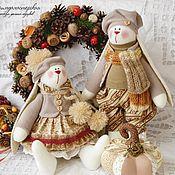 """Куклы и игрушки ручной работы. Ярмарка Мастеров - ручная работа Винтажные зайки """"Ванильная любовь"""". Handmade."""