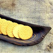 Тарелки ручной работы. Ярмарка Мастеров - ручная работа Тарелка деревянная для сервировки. Handmade.