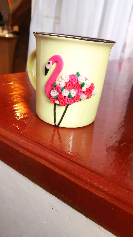 "Кружка ""Фламинго"", Кружки и чашки, Томск,  Фото №1"