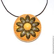 Украшения handmade. Livemaster - original item Wooden pendant Aromacean from natural wood (Pine) С51. Handmade.