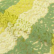 Ткани ручной работы. Ярмарка Мастеров - ручная работа ткань кружевное полотно  желтый триколор. Handmade.
