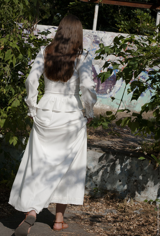 Костюмы ручной работы. Ярмарка Мастеров - ручная работа. Купить В викторианском стиле.молочная  юбка. Handmade. Ретро