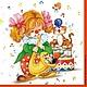 Декупаж и роспись ручной работы. Ярмарка Мастеров - ручная работа. Купить Клоунесса (SLOG009601) - салфетка для декупажа. Handmade. Разноцветный, Декупаж