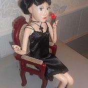 Куклы и пупсы ручной работы. Ярмарка Мастеров - ручная работа Кукла - ЧЕРНАЯ ВДОВА ( ГОТИЧЕСКАЯ ДЕВУШКА ). Handmade.