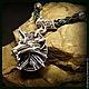 """Подарки для мужчин, ручной работы. Кулон """"Ведьмак"""" серебро 925. Крымская бронза. Ярмарка Мастеров. Бронза, авторский кулон, ведьмак"""