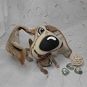 """Подарки к праздникам ручной работы. Ярмарка Мастеров - ручная работа Добрая собака""""Бассет"""". Handmade."""