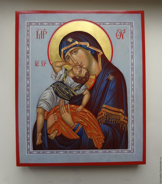 """Икона Пресвятой Богородицы ,, Взыграние младенца """", Иконы, Москва, Фото №1"""