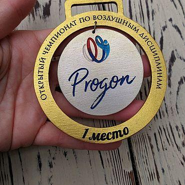 Дизайн и реклама ручной работы. Ярмарка Мастеров - ручная работа Медаль наградная, деревянная. Handmade.