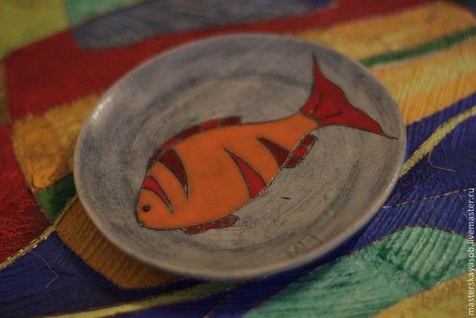 """Ванная комната ручной работы. Ярмарка Мастеров - ручная работа. Купить Мыльница """"Рыбка"""". Handmade. Мыльница, золотая рыбка, для кухни"""