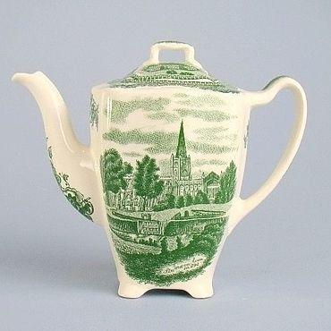 Винтаж ручной работы. Ярмарка Мастеров - ручная работа Винтажные чайники: Чайник, заварник Johnson Bros, Old Britain Castles. Handmade.