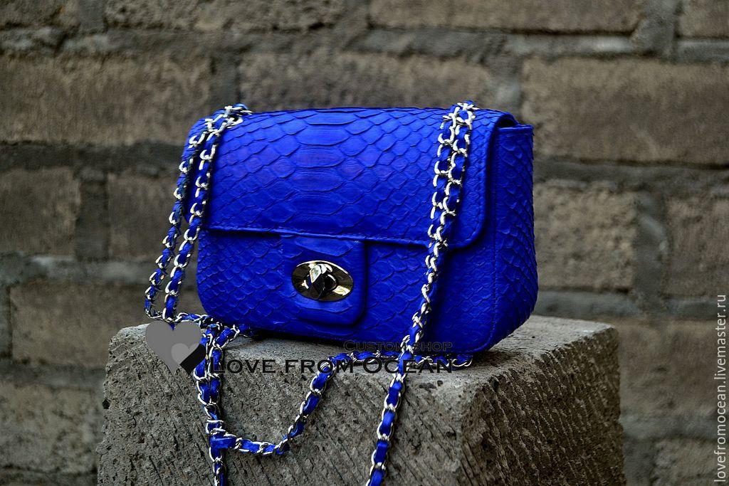 Сумка из питона в стиле Fashion chanel индиго – купить в интернет ... d26b2f848df