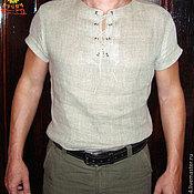 Русский стиль handmade. Livemaster - original item Shirt linen every day. Handmade.