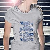 """Одежда ручной работы. Ярмарка Мастеров - ручная работа Футболка """"Big Fish"""". Handmade."""