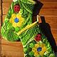 Кухня ручной работы. Ярмарка Мастеров - ручная работа. Купить Прихватка рукавица. Handmade. Разноцветный, рукавицы, хлопок